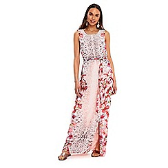 Wallis - Coral orchid embellished maxi