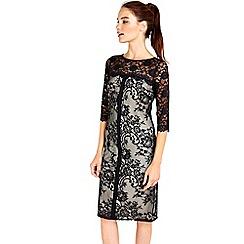Wallis - Black lace panel dress