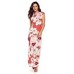 Wallis - Apricot floral print maxi dress