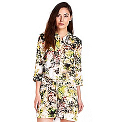 Wallis - Palm print playsuit