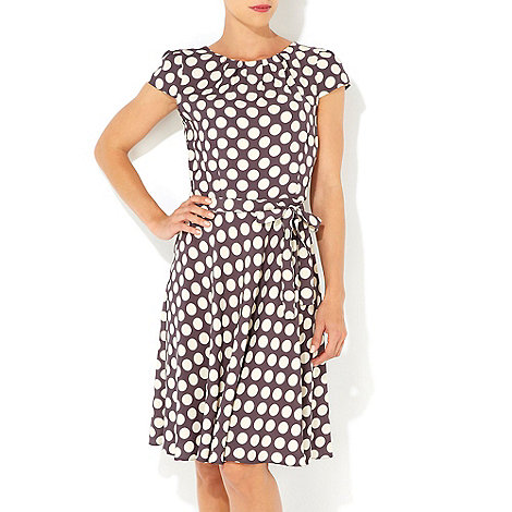 Wallis - Grey polka dot dress