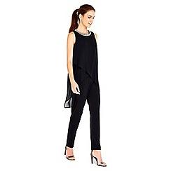 Wallis - Black embellished neck jumpsuit