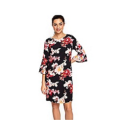 Wallis - Blossom flute sleeves dress
