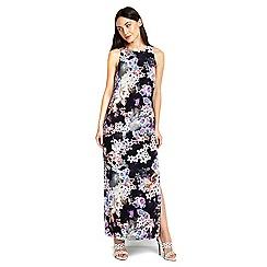 Wallis - Navy printed floral dress