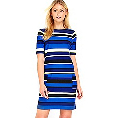 Wallis - Blue stripe ponte shift dress