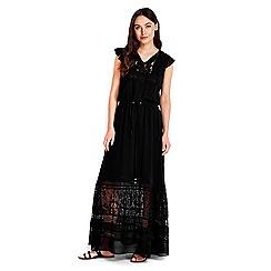 Wallis - Black lace boho maxi dress