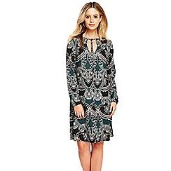 Wallis - Teal paisley swing dress