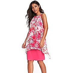 Wallis - Pink trailing butterfly overlayered dress