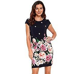 Wallis - Navy trailing floral shift dress