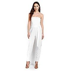 Wallis - White strapless jumpsuit