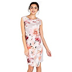 Wallis - Floral asym overlayer dress
