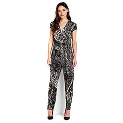 Wallis - Stone animal print jumpsuit
