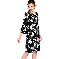 Wallis - Black lily printed tunic