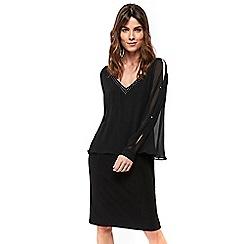 Wallis - Black embellished overlayer dress