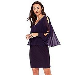 Wallis - Purple embellished overlay dress