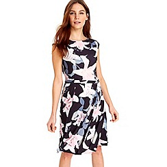 Wallis - Black magnolia fit and flare dress