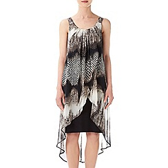 Wallis - Stone animal print 2in1 dress