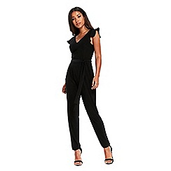 Wallis - Black ruffle jumpsuit