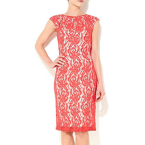 Wallis - Coral lace dress