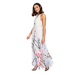 Wallis - Lilac pastel floral maxi dress