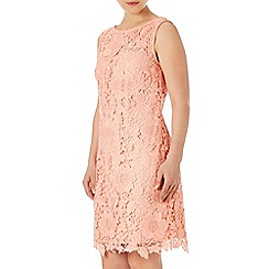 Wallis - Coral crochet lace dress