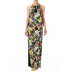 Wallis - Tropical blocked maxi dress