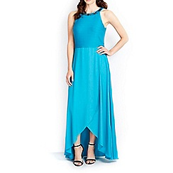 Wallis - Blue embellished maxi dress