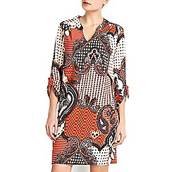 Wallis - Rust patchwork tunic dress