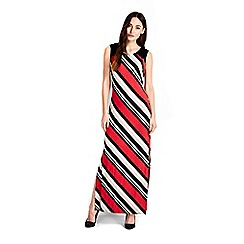 Wallis - Navy stripe maxi dress