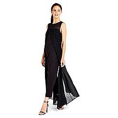 Wallis - Black hotfix overlayer jumpsuit