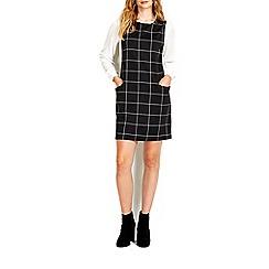 Wallis - Monochrome checked pinny dress