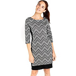 Wallis - Monochrome block shift dress
