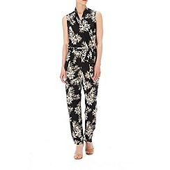 Wallis - Black fern print jumpsuit