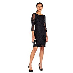 Wallis - Black embroidered lace dress