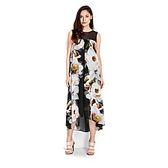 Wallis - Black printed overlay dress