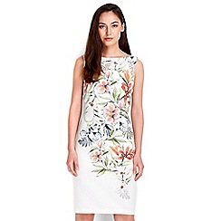 Wallis - Cream floral shift dress