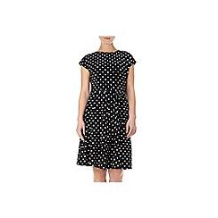 Wallis - Black and white spot dress