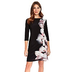 Wallis - Neutral abstract floral tunic dress