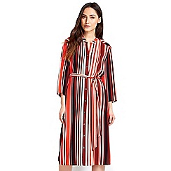 Wallis - Rust stripe shirt dress