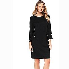 Wallis - Black stud sleeve shift dress