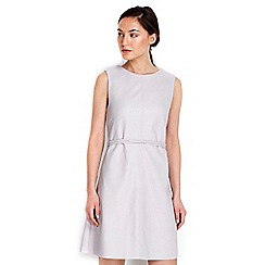 Wallis - Grey leather look shift dress