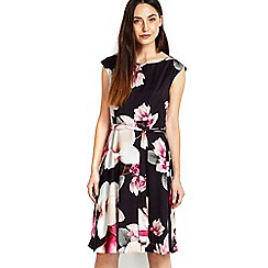 Wallis - Sapphire floral printed fit & flare dress