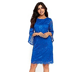 Wallis - Blue sleeves detail lace dress