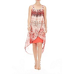Wallis - Coral paisley 2in1 dress