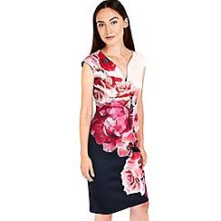 Wallis - Black floral scuba dress