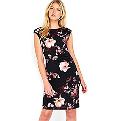 Wallis - Blossom floral ruche side dress