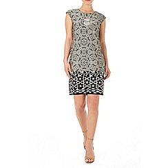 Wallis - Black and white tunic dress
