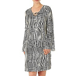 Wallis - Black and white zebra dress
