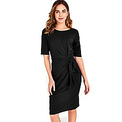 Wallis - Black shift tie side dress