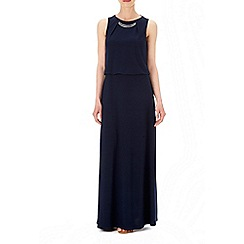 Wallis - Ink bar trim blouson maxi dress
